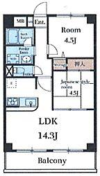 ルートホワイトII[2階]の間取り