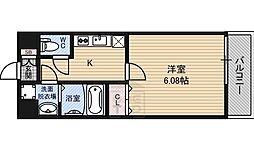CP深江橋 1階1Kの間取り