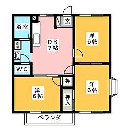 メゾン須賀I[1階]の間取り