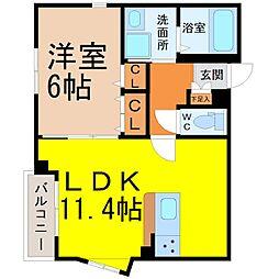 CALM覚王山[2階]の間取り