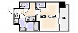 Osaka Metro千日前線 桜川駅 徒歩4分の賃貸マンション 5階1Kの間取り