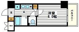エステムコート心斎橋アルテール[5階]の間取り