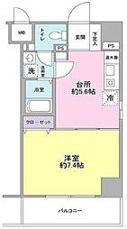 都営浅草線 東日本橋駅 徒歩1分の賃貸マンション 9階1DKの間取り