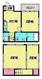 [一戸建] 東京都杉並区成田東1丁目 の賃貸【/】の間取り