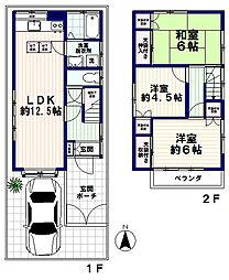 [一戸建] 東京都中野区本町5丁目 の賃貸【/】の間取り