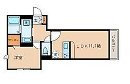 京急本線 雑色駅 徒歩8分の賃貸マンション 1階1LDKの間取り