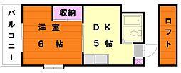 エクセット八田[2階]の間取り