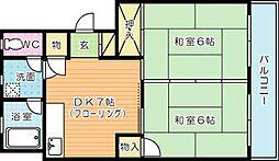 第三白石ビル[503号室]の間取り
