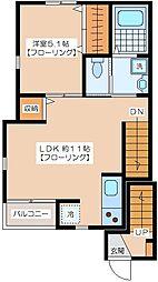 ビオトープKEIO笹塚[203号室]の間取り