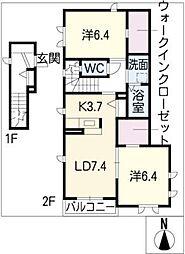 カーサ40[2階]の間取り