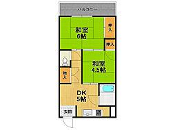 兵庫県伊丹市東有岡3丁目の賃貸マンションの間取り