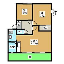 フローラ C[1階]の間取り
