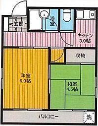 東京都足立区西新井5丁目の賃貸マンションの間取り