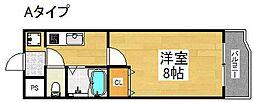 ラフィーネ北島[2階]の間取り