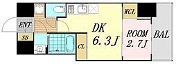 セレニテ桜川駅前プリエ 8階1DKの間取り