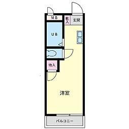 第1カネヨシハイツ[206号室]の間取り