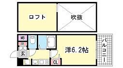 エステムコート三宮EASTポルトマーレ[8階]の間取り