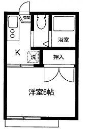 神奈川県相模原市南区御園3丁目の賃貸アパートの間取り