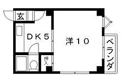 シャトー駒川[2階]の間取り