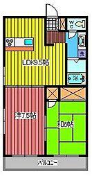 埼玉県さいたま市南区根岸3丁目の賃貸マンションの間取り