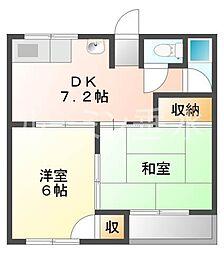 東舞子メゾン[1階]の間取り