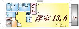 マーレヴィスタ須磨[201号室]の間取り