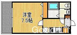 リード桜坂[3階]の間取り