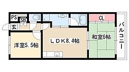 愛知県名古屋市緑区鳴海町字京田4丁目の賃貸マンションの間取り