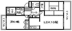 アネックス山城[2階]の間取り