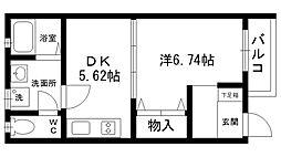 バラード夙川[201号室]の間取り