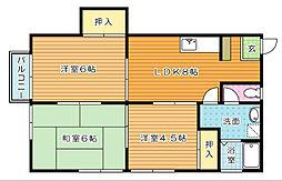 コーポ昭和[2階]の間取り