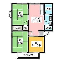 ディアヴィレッジ小舩 C棟[2階]の間取り