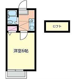 ジュネパレス茅ヶ崎第8[1階]の間取り