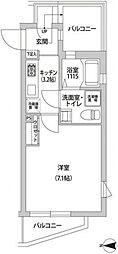 小田急小田原線 下北沢駅 徒歩8分の賃貸マンション 5階1Kの間取り