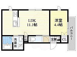 Petit Cerisier 3階1LDKの間取り