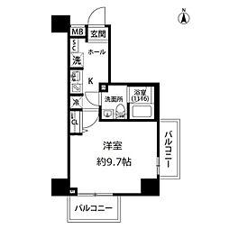 プレール・ドゥーク亀戸水神駅前[8階]の間取り
