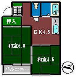 ドエルタカハシ[202号室]の間取り