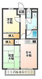 滋賀県東近江市建部堺町の賃貸マンションの間取り