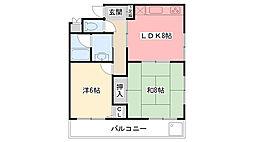 栗原マンション[201号室]の間取り
