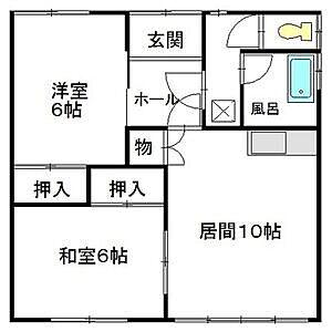 間取り,2DK,面積52.8m2,賃料3.5万円,,,北海道釧路市愛国西2丁目7-24