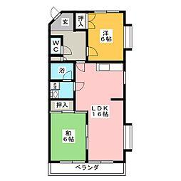 アメニティ板倉[2階]の間取り