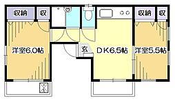 東京都東村山市栄町2丁目の賃貸マンションの間取り