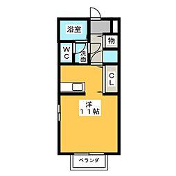 サニーガーデンII[1階]の間取り