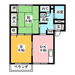 サンモールS B[2階]の間取り
