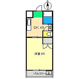 ヴィラまほら[4階]の間取り