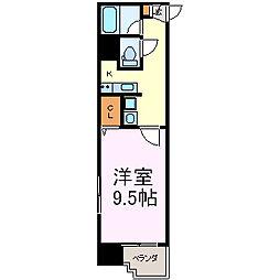 鶴舞パークヒルズ[9階]の間取り