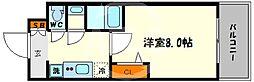 プレサンス心斎橋ソレイユ 12階1Kの間取り