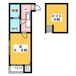 グランコンフォール宮城野[2階]の間取り