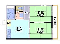 ハイムアレグレットB棟[2階]の間取り