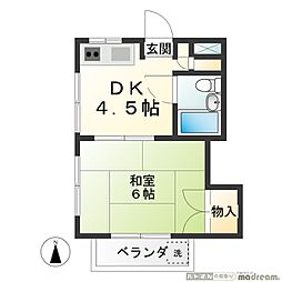 大鈴マンション[302号室]の間取り